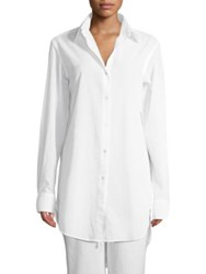 Commando Oversize Cotton Voile Shirt White
