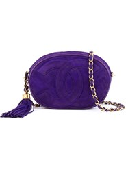 Chanel Vintage Round Crossbody Bag Pink And Purple