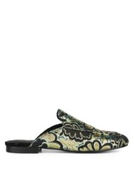 Kenneth Cole Wallice Brocade Mules Metallic