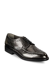 Robert Clergerie Leather Wing Tip Oxford Shoes Dark Grey