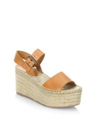 Soludos Minorca Leather High Platform Sandals Nude