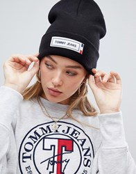 Tommy Jeans Beanie With Logo Tab Black