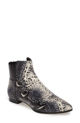 Calvin Klein Women's Eunice Pointy Toe Bootie Snake Print Leather