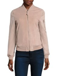 Mackage Novelty Suede Bomber Jacket Petal
