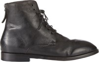 Marsell Distressed Back Zip Boots Black