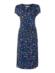 Dickins And Jones Side Twist Jersey Dress Multi Coloured Multi Coloured