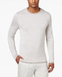 Alfani Men's Textured Striped Sweater Only At Macy's Ash Tan Heather
