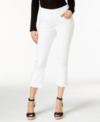 Jag Echo Cropped Pull On Pants White