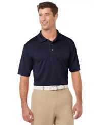 Pga Tour Men's Big And Tall Golf Performance Airflux Polo True Navy
