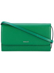 Bally Flap Shoulder Bag Women Leather One Size Green