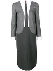 Thom Browne Trompe L'oeil Super 120S Suit Dress Grey