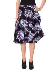 Calla Skirts Knee Length Skirts Women Purple