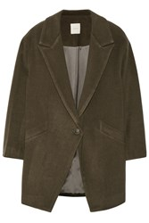 Mason By Michelle Mason Oversized Wool Blend Coat Green