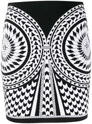 Balmain Graphic Pattern Mini Skirt 60