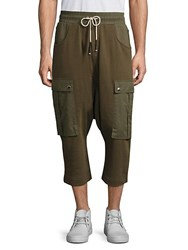 Mostly Heard Rarely Seen Cargo Crop Pants Army Green