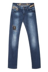 Desigual Dark Wash Jeans Red
