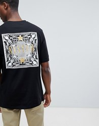 Systvm Oversized Gold Foil Back Print T Shirt Black