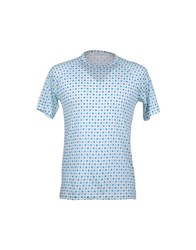 Richard Nicoll Topwear Short Sleeve T Shirts Men Turquoise