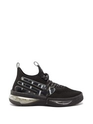 Valentino Vltn Cloud Bubble Sole Jacquard Trainers Black