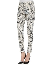 Cj By Cookie Johnson Tropical Print Wisdom Ankle Jeans
