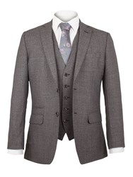 Alexandre Of England Milner Jaspe Plain Suit Jacket Grey