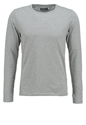 Jack And Jones Jack And Jones Jjbasic Long Sleeved Top Light Grey Mottled Light Grey