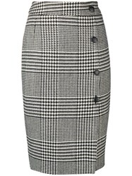 Each X Other Houndstooth Pencil Skirt Black
