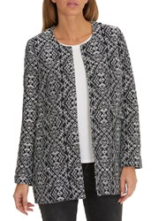 Betty Barclay Textured Woven Coat Dark Blue Grey