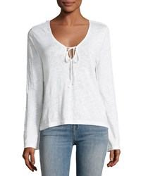 J Brand Constance Long Sleeve Cotton Top White