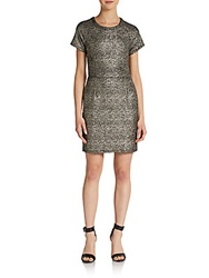 Collective Concepts Sparkle Knit Dress Bronze