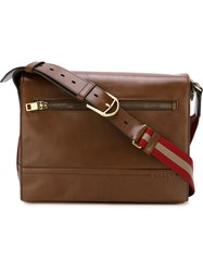 Bally 'Tamrac' Shoulder Bag Brown