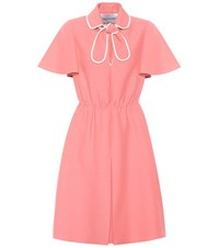 Valentino Wool And Silk Crepe Dress Pink