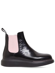 Alexander Mcqueen 40Mm Hybrid Leather Chelsea Boots Black