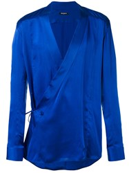 Balmain Wrap Shirt Blue