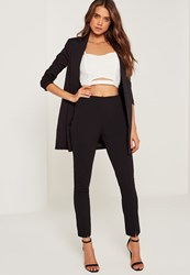Missguided Skinny Fit Cigarette Trousers Black Black
