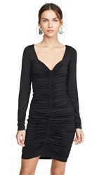 Susana Monaco Long Sleeve Cinched Front Dress Black