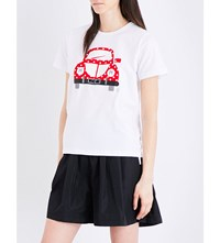 Chocoolate Car Cotton Jersey T Shirt White
