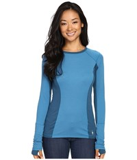 Smartwool Phd Light Long Sleeve Top Glacial Blue Women's Long Sleeve Pullover