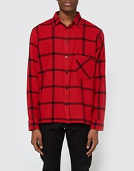 Cheap Monday Squared Shirt Deep Red