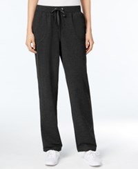 Karen Scott Petite Drawstring French Terry Pants Only At Macy's Deep Black