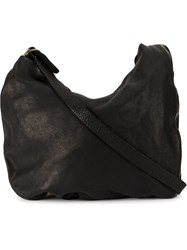 Guidi Zipped Shoulder Bag Black