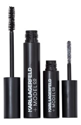 Model Co Karl Lagerfeld Modelco Kiss Me Karl Fibre Lash Brush On False Lashes Set Black