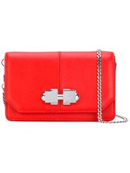 Carven Chain Strap Shoulder Bag Red
