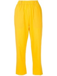 Sara Lanzi Elasticated Trousers Yellow