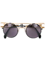 Cazal Round Sunglasses Metallic