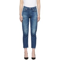 Citizens Of Humanity Blue Charlotte Crop High Rise Jeans
