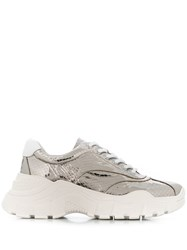 Twin Set Chunky Metallic Sneakers Silver