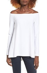 Leith Women's Off The Shoulder Tee White