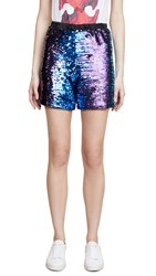 Loyd Ford Sequin Shorts Blue
