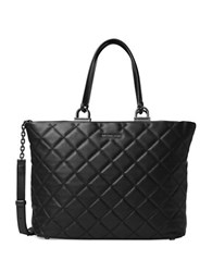 Michael Michael Kors Quilted Leather Tote Black